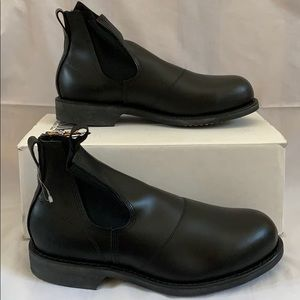 Addison Military Steel Toe Molder Ankle Boots.